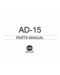 Konica-Minolta Options AD-15 Parts Manual