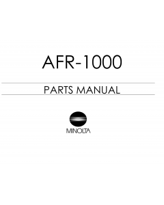 Konica-Minolta Options AFR-1000 Parts Manual