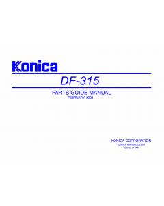 Konica-Minolta Options DF-315 Parts Manual
