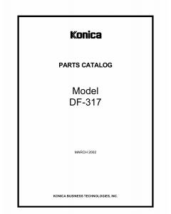 Konica-Minolta Options DF-317 Parts Manual