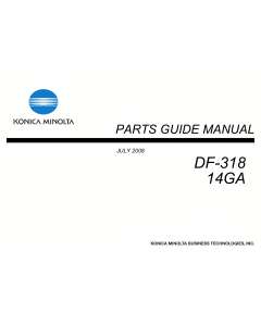 Konica-Minolta Options DF-318 14GA Parts Manual