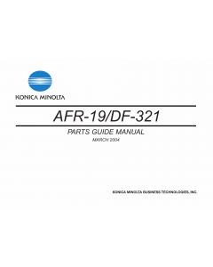 Konica-Minolta Options DF-321 AFR-19 Parts Manual
