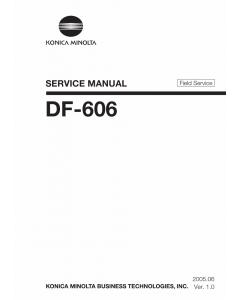 Konica-Minolta Options DF-606 FIELD-SERVICE Service Manual