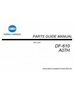 Konica-Minolta Options DF-610 A07H Parts Manual