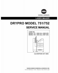 Konica-Minolta Options DR-751 DR-752 Service Manual