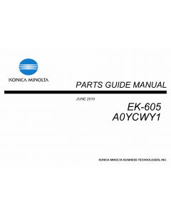 Konica-Minolta Options EK-605 A0YCWY1 Parts Manual