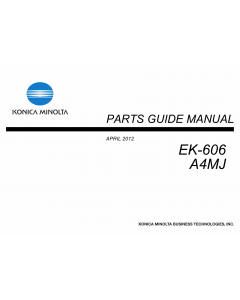 Konica-Minolta Options EK-606 A4MJ Parts Manual