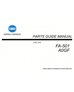 Konica-Minolta Options FA-501 A0GF Parts Manual