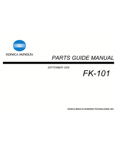Konica-Minolta Options FK-101 Parts Manual