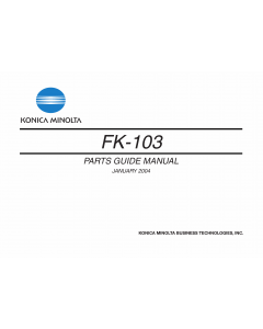 Konica-Minolta Options FK-103 Parts Manual