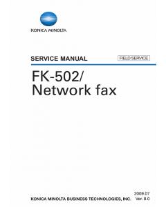 Konica-Minolta Options FK-502 FIELD-SERVICE Service Manual