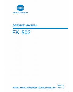 Konica-Minolta Options FK-502 Service Manual