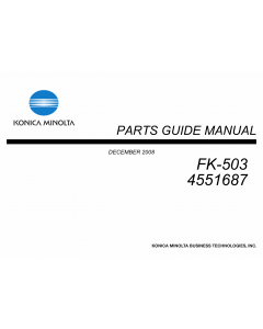 Konica-Minolta Options FK-503 4551687 Parts Manual