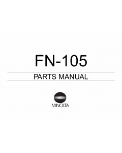 Konica-Minolta Options FN-105 Parts Manual