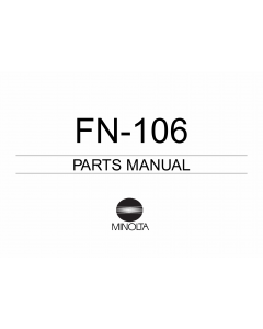 Konica-Minolta Options FN-106 Parts Manual
