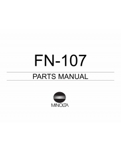 Konica-Minolta Options FN-107 Parts Manual