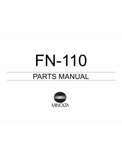 Konica-Minolta Options FN-110 Parts Manual