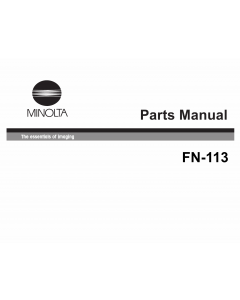Konica-Minolta Options FN-113 Parts Manual