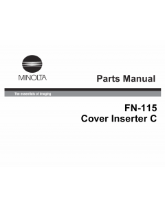 Konica-Minolta Options FN-115 Parts Manual