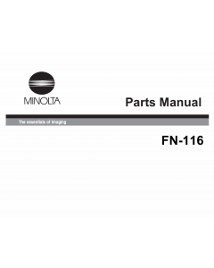 Konica-Minolta Options FN-116 Parts Manual