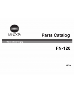 Konica-Minolta Options FN-120 Parts Manual