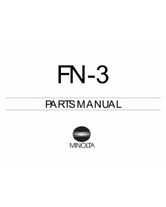 Konica-Minolta Options FN-3 Parts Manual
