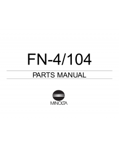 Konica-Minolta Options FN-4 104 Parts Manual
