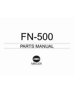 Konica-Minolta Options FN-500 Parts Manual