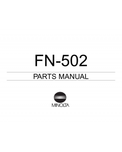 Konica-Minolta Options FN-502 Parts Manual