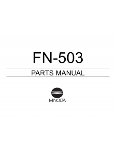 Konica-Minolta Options FN-503 Parts Manual