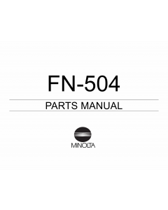 Konica-Minolta Options FN-504 Parts Manual