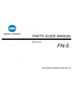 Konica-Minolta Options FN-5 Parts Manual