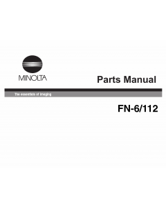 Konica-Minolta Options FN-6 Parts Manual
