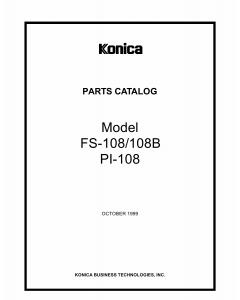 Konica-Minolta Options FS-108 FS 108B Parts Manual