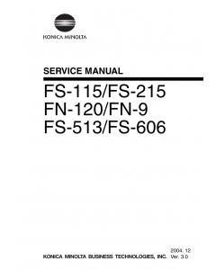 Konica-Minolta Options FS-115 FS-215 FN-120 FN-9 FS-513 FS-606 Service Manual