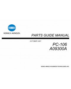 Konica-Minolta Options PC-106 A09300A Parts Manual