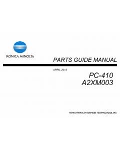 Konica-Minolta Options PC-410 A2XM003 Parts Manual