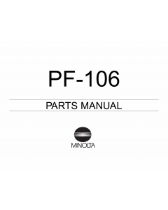 Konica-Minolta Options PF-106 Parts Manual