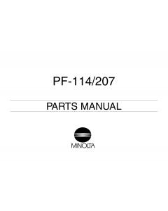 Konica-Minolta Options PF-114 207 Parts Manual