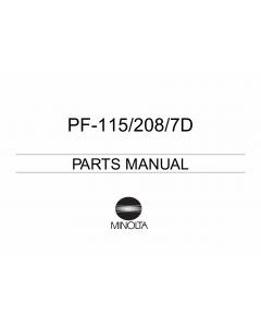 Konica-Minolta Options PF-115 208 7D Parts Manual