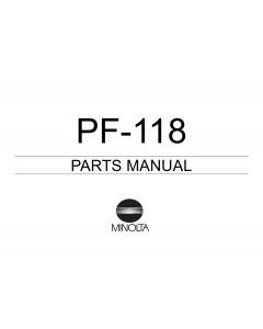 Konica-Minolta Options PF-118 Parts Manual