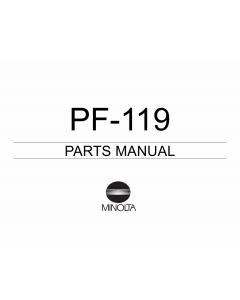 Konica-Minolta Options PF-119 Parts Manual