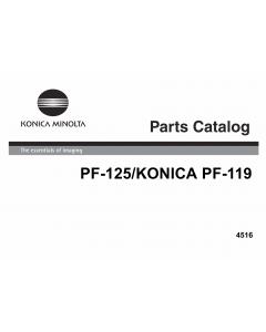 Konica-Minolta Options PF-125 4516 Parts Manual