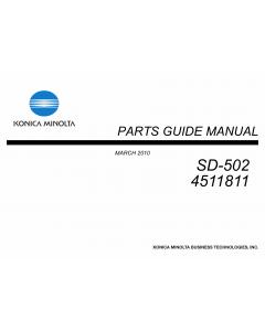 Konica-Minolta Options SD-502 4511811 Parts Manual