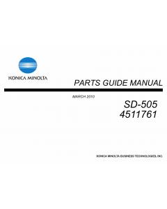 Konica-Minolta Options SD-505 4511761 Parts Manual