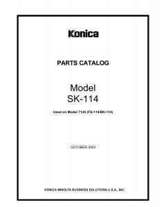 Konica-Minolta Options SK-114 4511 Parts Manual