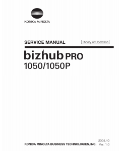 Konica-Minolta bizhub-PRO 1050 1050P THEORY-OPERATION Service Manual