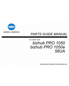 Konica-Minolta bizhub-PRO 1050 1050e Parts Manual