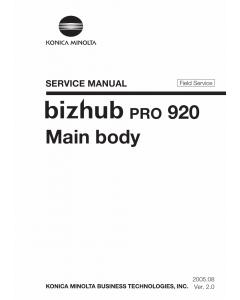 Konica-Minolta bizhub-PRO 920 FIELD-SERVICE Service Manual