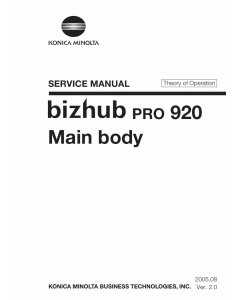 Konica-Minolta bizhub-PRO 920 THEORY-OPERATION Service Manual
